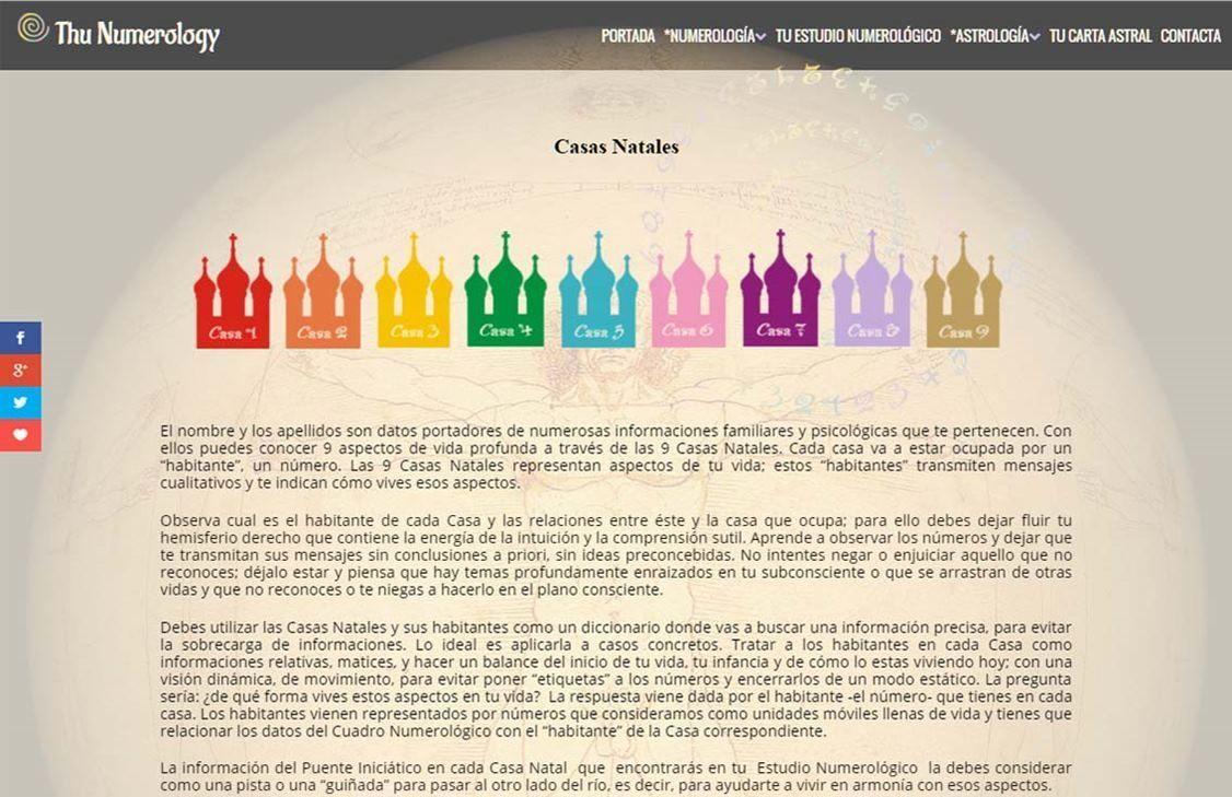 yMeraki estudio creativo - Diseño web thunumerology-casas-natales