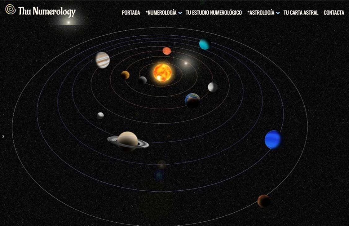 yMeraki estudio creativo - Diseño web thunumerology-planetas