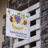 yMeraki estudio creativo - Cartel logo NaturFreshFruit