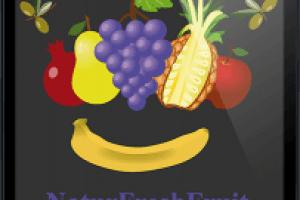 yMeraki estudio creativo - Logo NaturFreshFruit en ipad