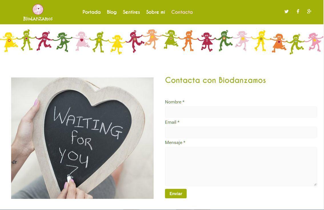 yMeraki estudio creativo - web Biodanzamos contacta