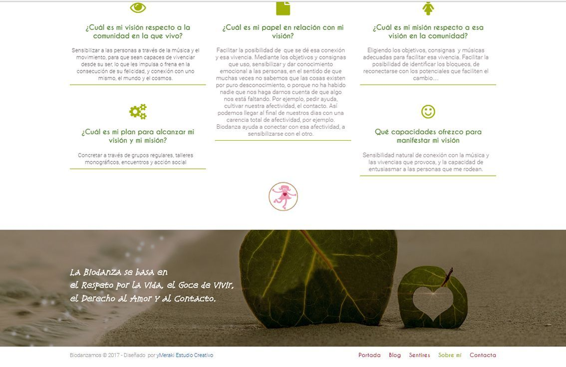 yMeraki estudio creativo - web Biodanzamos footer