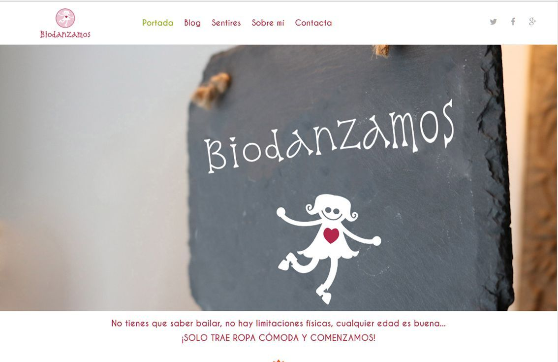 yMeraki estudio creativo - web Biodanzamos inicio