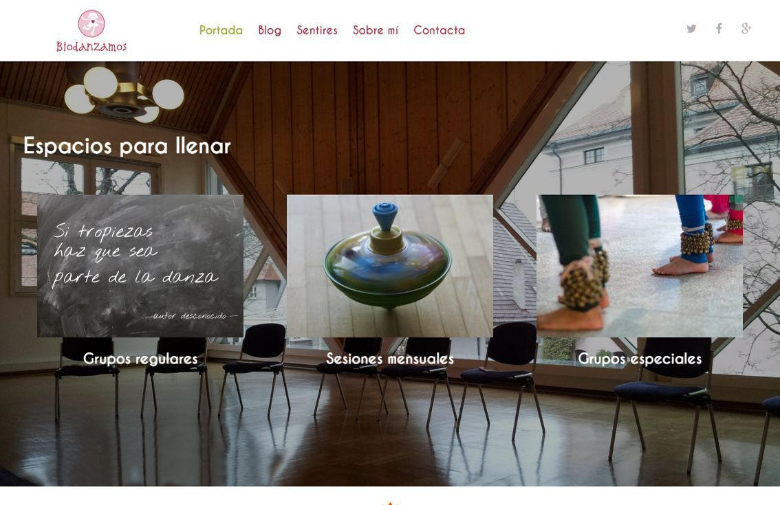 yMeraki estudio creativo - web Biodanzamos sesiones y talleres