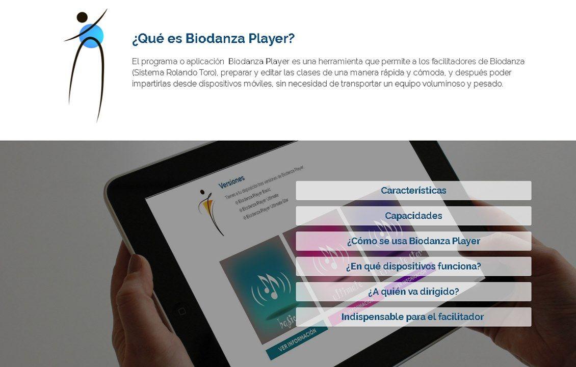 yMeraki estudio creativo - web biodanzar.com que es biodanzaplayer